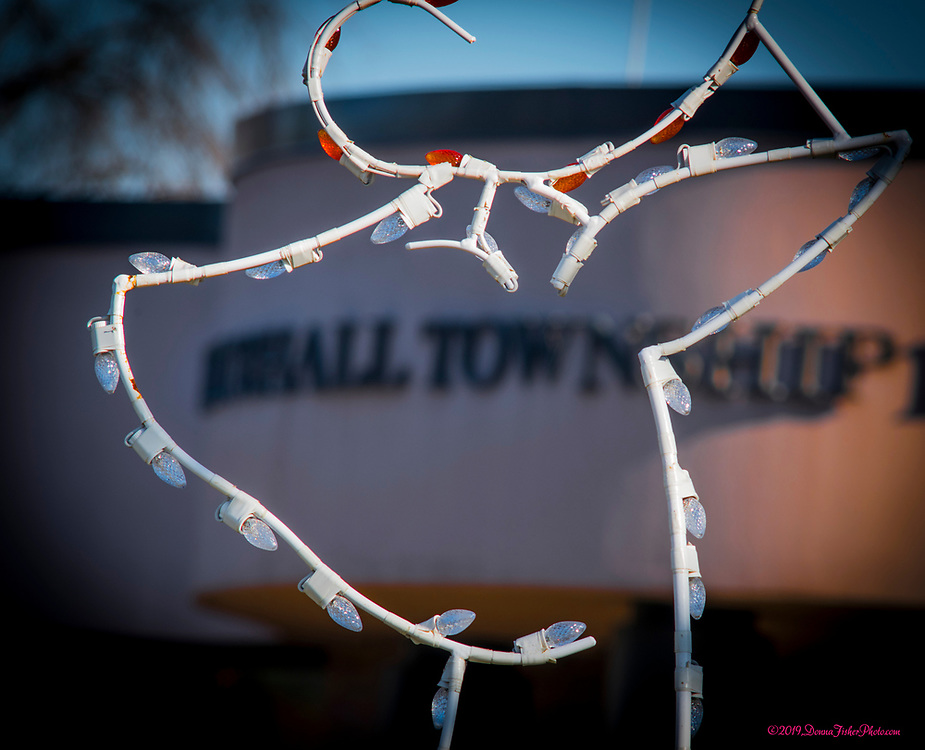 Holiday season comes to the Whitehall Township Municipal Building along MacArthur Road in Whitehall Twp., Lehigh County, Pa.. Picture made November 26, 2019. Donna Fisher Photography, LLC