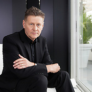 """Venice Lido, Italy, September 2014. Screenwriter and director Andrew Niccol for the Financial Times. Mr Niccol attended the 71 Venice Film Festival for the premiere of his movie """"Good Kill"""" about the implications of the use of war drones."""