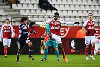 Ignacio TEJEDA / Benjamin MOUKANDJO  - 13.12.2014 - Reims / Evian Thonon  - 18eme journee de Ligue1<br />Photo : Fred Porcu / Icon Sport
