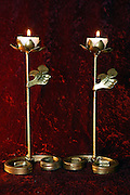 Handmade wrought iron candlestick