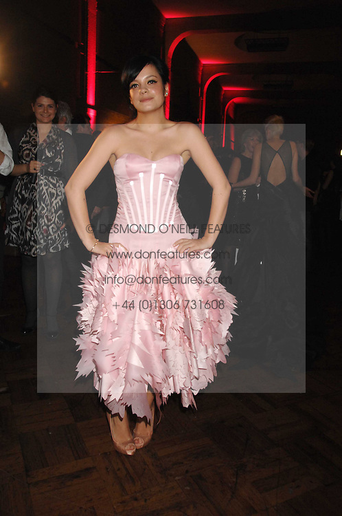 LILY ALLEN at the British Fashion Awards 2007 held at the Royal Horticultural Halls, Vincent Square, London on 28th November 2007.<br /><br />NON EXCLUSIVE - WORLD RIGHTS