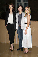 Michelle Dockery, Elizabeth McGovern, Joanne Froggatt, Downton Abbey - Final Season press launch photocall, The May Fair Hotel, London UK, 13 August 2015, Photo by Richard Goldschmidt