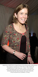 MISS EDLA GRIFFITHS a close friend of the Marquess of Blandford, at a party in London on 15th March 2001.OMG 20
