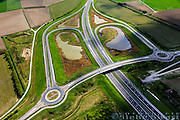 Nederland, Zeeland, Terneuzen, 09-05-2013;<br /> Landscape near Terneuzen (Zeeuws-Vlaanderen), the roadway to the tunnel in the Westerschelde between the agricultural fields.<br /> luchtfoto (toeslag op standard tarieven);<br /> aerial photo (additional fee required);<br /> copyright foto/photo Siebe Swart.