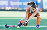 AMSTERDAM - Hockey -  Eva de Goede (Neth)   .  Interland tussen de vrouwen van Nederland en Groot-Brittannië, in de Rabo Super Serie 2016 .  COPYRIGHT KOEN SUYK
