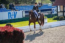NEUMAYER Astrid (AUT), Sir Simon 12<br /> Hagen - Horses and Dreams 2019<br /> Grand Prix de Dressage CDI4* Special Tour<br /> 27. April 2019<br /> © www.sportfotos-lafrentz.de/Stefan Lafrentz