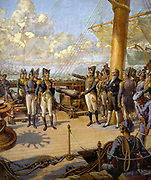Prince Pedro (right) order Portuguese officer Jorge Avilez (left) to return to Portugal after his failed rebellion. José Bonifácio (in civilian clothes) can be seen next to the prince. Pedro I of Brazil (Portuguese pronunciation: [']; English: Peter I, October 12, 1798 – September 24, 1834), was the founder and first ruler of the Empire of Brazil and also King of Portugal as Pedro IV, having reigned for eight years in Brazil and two months in Portugal respectively.