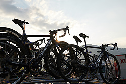 UnitedHealthcare Pro Cycling make their final preparations before La Course by Le Tour de France 2018, a 112.5 km road race from Annecy to Le Grand Bornand, France on July 17, 2018. Photo by Sean Robinson/velofocus.com