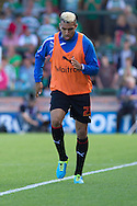 Danny Williams of Reading warming up before the Skybet championship match, Yeovil Town v Reading at Huish Park in Yeovil on Saturday 31st August 2013. <br /> Picture by Sophie Elbourn, Andrew Orchard sports photography,