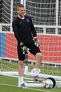 England goalkeeper Jordan Pickford during the training session for England at St George's Park National Football Centre, Burton-Upon-Trent, United Kingdom on 28 May 2019.