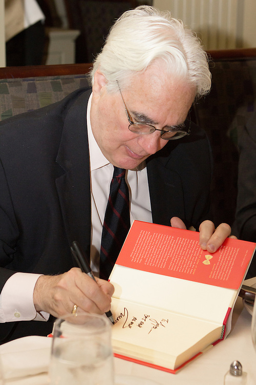 """Accomplished writer John F. Mariani is the special guest at the second installment of Davio's Celebrity Cookbook Author Series. Mr Mariano is the aurthor of """"How Italian Food Conquered The World."""" The evening features a three course wine dinner including Braised Lamb Shank, Saffron Risotto, Natural Reduction and a six layer Lemoncello cake. Guests engaged freely with the author and received a personally signed copy the book."""