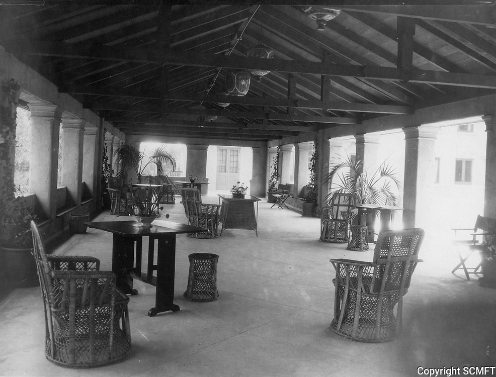 1928 Covered patio at the Hollywood Studio Club on Lodi Pl.