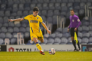 Callum Reilly of AFC Wimbledon in action during the EFL Sky Bet League 1 match between Portsmouth and AFC Wimbledon at Fratton Park, Portsmouth, England on 19 January 2021.