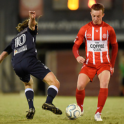 BRISBANE, AUSTRALIA - AUGUST 11:  during the NPL Queensland Senior Mens Round 27 match between Olympic FC and Brisbane City at Goodwin Park on August 11, 2019 in Brisbane, Australia. (Photo by Patrick Kearney)