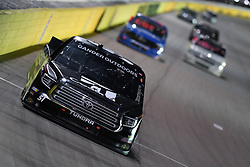 March 1, 2019 - Las Vegas, NV, U.S. - LAS VEGAS, NV - MARCH 01: Kyle Busch (51) Kyle Busch Motorsports (KBM) Toyota Tundra leads the field into turn three during the NASCAR Gander Outdoors Truck Series The Strat 200 on March 1, 2019, at Las Vegas Motor Speedway in Las Vegas, Nevada. (Photo by Michael Allio/Icon Sportswire) (Credit Image: © Michael Allio/Icon SMI via ZUMA Press)