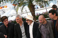 Benicio Del Toro, Laurent Cantet, Elia Suleiman, Pablo Trapero, Julio Medem  at the 7 Dias En La Habana photocall at the 65th Cannes Film Festival France. Wednesday 23rd May 2012 in Cannes Film Festival, France.