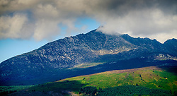 Storm clouds gather over Goatfell, Isle of Arran, Scotland<br /> <br /> (c) Andrew Wilson   Edinburgh Elite media