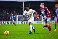 Brandon Mason of Coventry City (3) defends against George Thomas of Scunthorpe United (18) during the EFL Sky Bet League 1 match between Scunthorpe United and Coventry City at Glanford Park, Scunthorpe, England on 5 January 2019.
