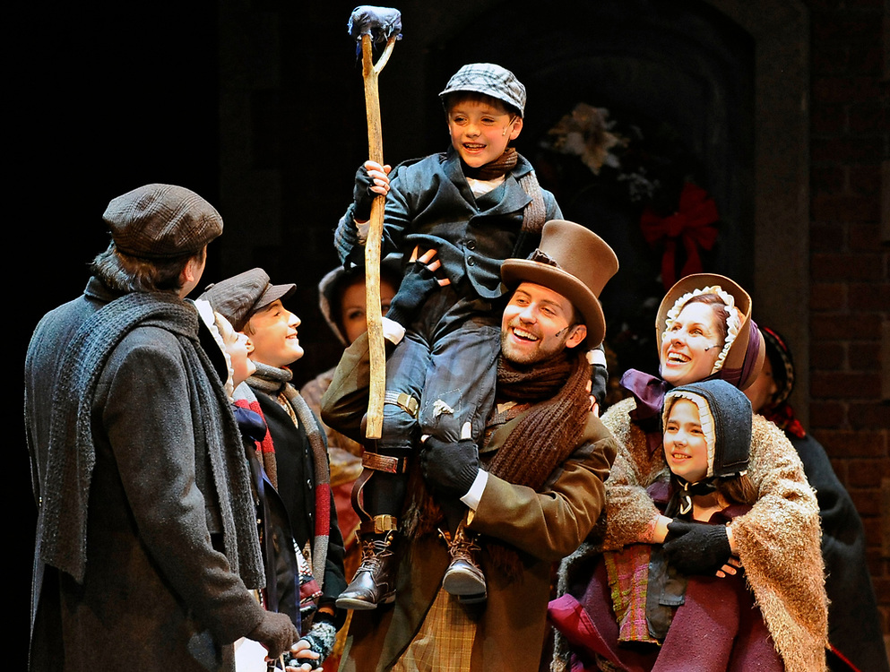 """The opening scene of """"A Christmas Carol"""" at the Hanover Theatre for the Performing Arts on Friday, Dec. 18, 2015."""
