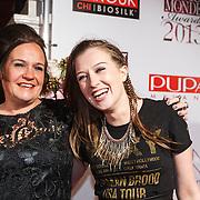 NLD/Amsterdam/20131111 - Beau Monde Awards 2013, Xandra Brood - Jansen en dochter Lola Brood