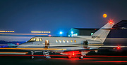 British Aerospace Hawker 800, photographed for Georgia Jet at Briscoe Field (LZU) in Lawrenceville, Georgia.<br />