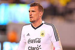 September 11, 2018 - East Rutherford, NJ, U.S. - EAST RUTHERFORD, NJ - SEPTEMBER 11:  Argentina goalkeeper Franco Armani (12) prior to the International Friendly Soccer game between Argentina and Colombia on September 11, 2018 at MetLife Stadium in East Rutherford, NJ.   (Photo by Rich Graessle/Icon Sportswire) (Credit Image: © Rich Graessle/Icon SMI via ZUMA Press)