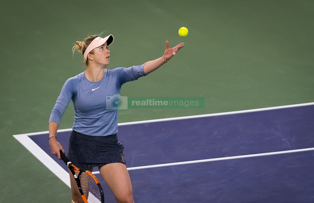 March 15, 2019 - Indian Wells, USA - Elina Svitolina of the Ukraine in action during her semi-final at the 2019 BNP Paribas Open WTA Premier Mandatory tennis tournament (Credit Image: © AFP7 via ZUMA Wire)