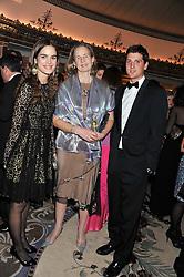 Left to right, CAROLINA GAWRONSKI, MRS NICHOLAS SOAMES and JAKE WARREN at the 21st Cartier Racing Awards held at The Dorchester, Park Lane, London on 15th November 2011.