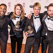 NLD/Hilversum//20170306 - uitreiking Buma Awards 2017, Cimo Fränkel, Jordy Huisman, Rik Annema en Sander Huisman worden tijdens de Buma Awards onderscheiden met een Buma Award International