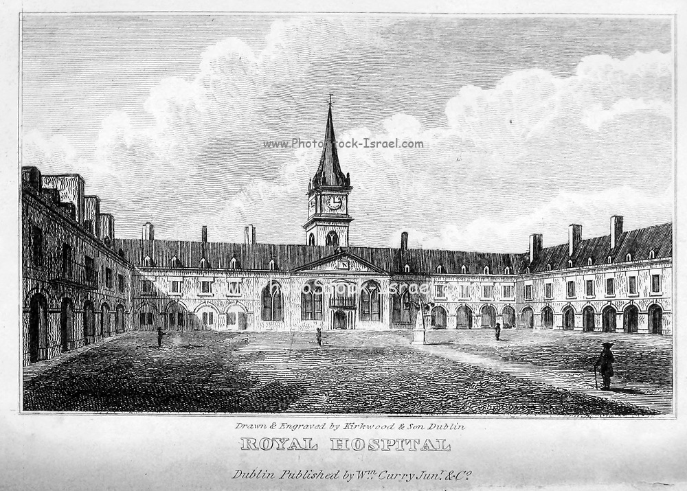ROYAL HOSPITAL, Kilmainham ; Interior, From the guide book ' The new picture of Dublin : or Stranger's guide through the Irish metropolis, containing a description of every public and private building worthy of notice ' by Hardy, Philip Dixon, 1794-1875. Published in Dublin in 1831 by W. Curry.
