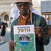 Theresa May leaving the Windrush 70th Anniversary at Westminster Abbey, London, UK on June 22nd 2018.