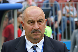 July 1, 2018 - Moscow, Russia - July 01, 2018, Russia, Moscow, FIFA World Cup 2018, the playoff round. Football match Spain - Russia at the stadium Luzhniki. Stanislav Salamovich Cherchesov; Main coach; trainer; Stanislav Cherchesov. (Credit Image: © Russian Look via ZUMA Wire)
