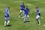 Hamilton Wanderers players warm up before the Handa Premiership football match, Hawke's Bay United v Hamilton Wanderers, Bluewater Stadium, Napier, Sunday, November 15, 2020. Copyright photo: Kerry Marshall / www.photosport.nz