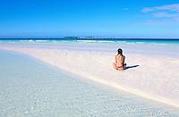 Cuba, Province de Sancti Spiritus, Cayo Coco, plage de Cayo Guillermo, Playa Pilar // Cuba, Sancti Spiritus Province, Cayo Coco, Cayo Guillermo beach,  Playa Pilar