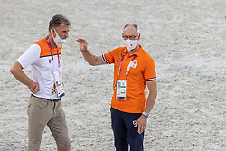 Ehrens Rob, NED, Chef d'Equipe, Houtzager Mark, NED<br /> Olympic Games Tokyo 2021<br /> © Hippo Foto - Dirk Caremans<br /> 06/08/2021