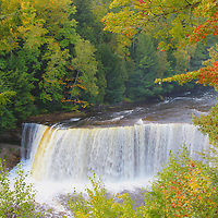 """""""Misty Falls of Tahquamenon""""<br /> <br /> Beautiful Upper Tahquamenon Falls in autumn. Mist from the falls filling the air!!<br /> <br /> Waterfalls by Rachel Cohen"""
