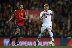March 23, 2019 - Valencia, Valencia, Spain - Martin Odegaard of Norway controls the ball during the 2020 UEFA European Championships group F qualifying match between Spain and Norway at Estadi de Mestalla on March 23, 2019 in Valencia, Spain. (Credit Image: © Jose Breton/NurPhoto via ZUMA Press)