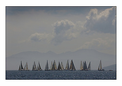 Bell Lawrie Series Tarbert Loch Fyne - Yachting.The third day's inshore races, which transpired to be the last...The Graham Technology Fleet including Classes 1-4 prepare to start as the clouds lift off Arran...