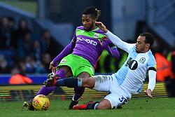 Bristol City's Kasey Palmer is tackled by <br />Blackburn Rovers' Elliott Bennett