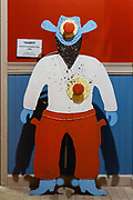 A 1940s shooting gallery target in the Coney Island Museum.