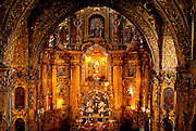 ECUADOR, COLONIAL QUITO Monastery of San Francisco, altar