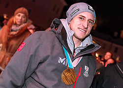 27.02.2018, Salzburg, AUT, PyeongChang 2018, ÖOC Medaillenfeier, im Bild Matthias Mayer // during a ÖOC medal celebration Party after the Olympic Winter Games Pyeongchang 2018 in Salzburg, Austria on 2018/02/27. EXPA Pictures © 2018, PhotoCredit: EXPA/ JFK