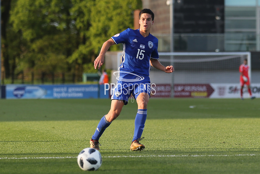 Nadav Aviv Niddam of Israel (15) during the UEFA European Under 17 Championship 2018 match between Israel and Italy at St George's Park National Football Centre, Burton-Upon-Trent, United Kingdom on 10 May 2018. Picture by Mick Haynes.