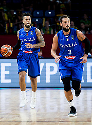 Daniel Hackett of Italy and Marco Belinelli of Italy during basketball match between National Teams of Finland and Italy at Day 10 in Round of 16 of the FIBA EuroBasket 2017 at Sinan Erdem Dome in Istanbul, Turkey on September 9, 2017. Photo by Vid Ponikvar / Sportida