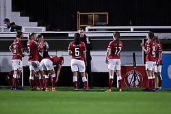 Interim manager Gary Probert speaks to players during the match - Mandatory by-line: Ryan Hiscott/JMP - 14/11/2020 - FOOTBALL - Twerton Park - Bath, England - Bristol City Women v Tottenham Hotspur Women - Barclays FA Women's Super League