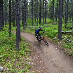 Steve Kovalenko riding 7-27 at Moose Mountain, Alberta Canada
