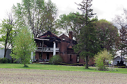 15 May 2014:   This historic home on Lilly Road in Lilly Illinois was destroyed by fire on May 12, 2014.  The home was built in the 1830's and had survived at least 2 other fires.  The home is said to have been an overnight stop for lawyers and judges, including Abraham Lincoln when traveling the circuit and serving their clients.