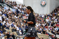 May 30, 2019 - Paris, France - Victoria Azarenka of Belarus in action against Naomi Osaka (not seen) of Japan during their second round match at the French Open tennis tournament at Roland Garros Stadium in Paris, France on May 30, 2019. (Credit Image: © Ibrahim Ezzat/NurPhoto via ZUMA Press)