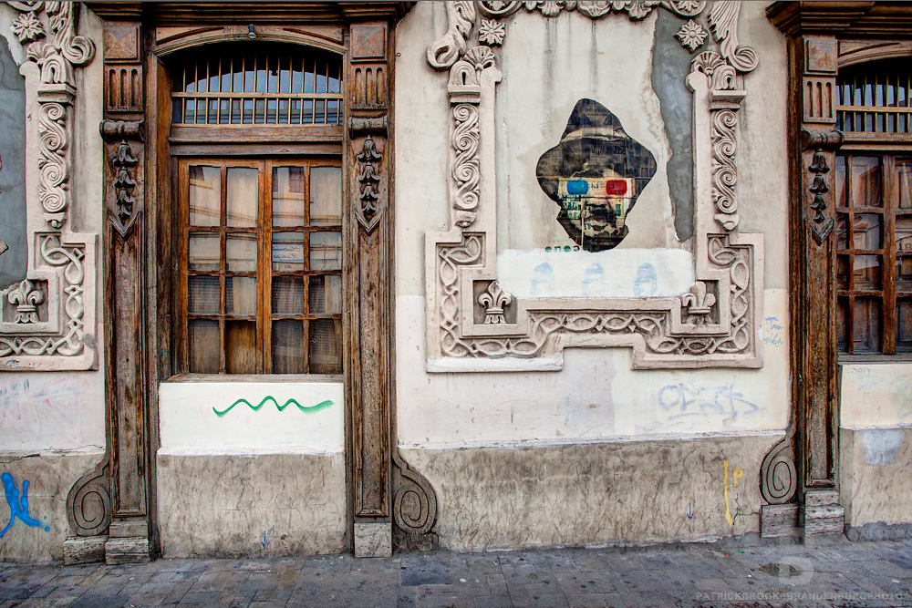 Steet art and architecture in the sity of Cuenca, Ecuador.