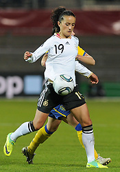26.10.2011, Millerntor-Stadion, Hamburg, GER, FSP, Deutschland vs Schweden, im Bild Fatmire Bajramaj (Deutschland #19, vorn), Therese Sjögran / Sjoegran (Schweden #15, hinten)..// during the friendly match Deutschland vs Schweden on 2011/10/26, Millerntor-Stadion, Hamburg, Germany..EXPA Pictures © 2011, PhotoCredit: EXPA/ nph/  Frisch       ****** out of GER / CRO  / BEL ******